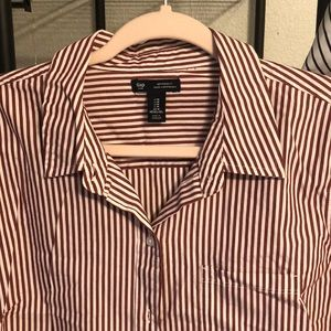 Gap button down pin stripe blouse